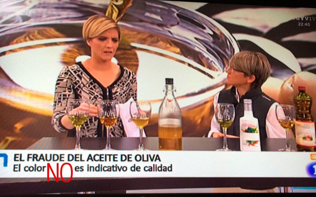 """Entrevista para hablar de """"los aceites de oliva"""" en RTVE"""